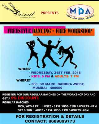 Freestyle Dancing Free Workshop