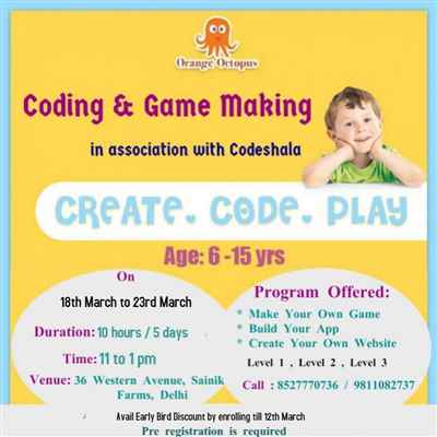 Coding and Game Making at Orange Octopus