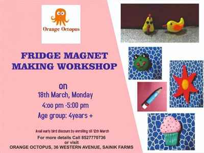 Fridge Magnet Making Workshop at Orange Octopus