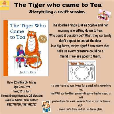The Tiger who came to Tea storytelling craft session