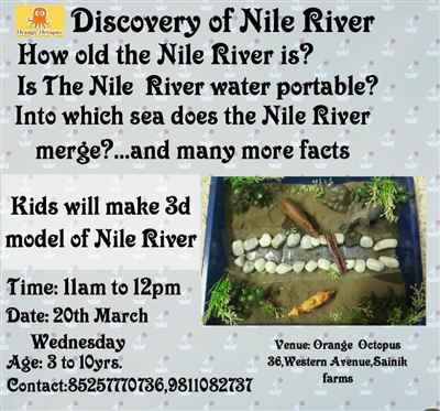 Discovery of Nile River Worskshop at Orange Octopus