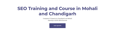 SEO Training and Course in Mohali and Chandigarh