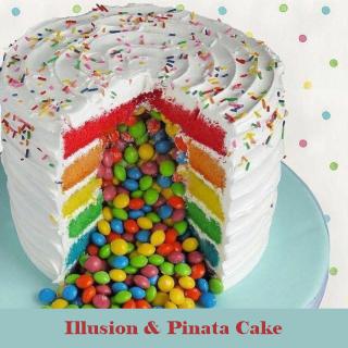 Pinata and Rainbow Cakes