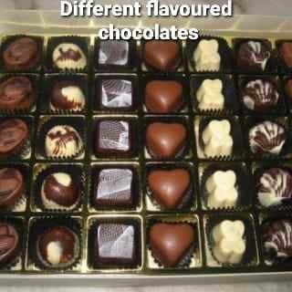 Different Flavoured Chocolates