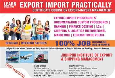 Jodhpur Institute of Export & Shipping Management