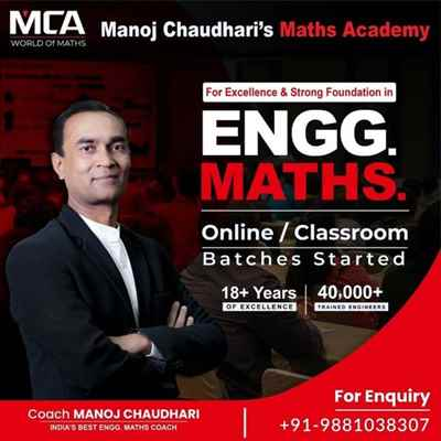 Manoj Chaudharis Maths Academy for Engineering