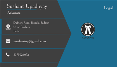 Sushant Upadhyay  Legal services