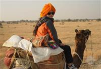camel safari in Rajasthan Sheesh Mahal Desert Camp Jaisalmer