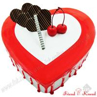 Heart strawberry - Online Cake home Delivery in Coimbatore - friend in knead