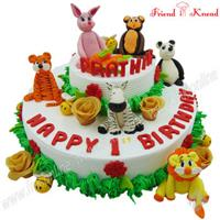Zoo Theme - Online Cake Shop in Coimbatore - Friend in Knead
