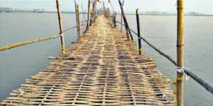 35 दिन बनल 1200 मीटर लंबा बांसक पुल