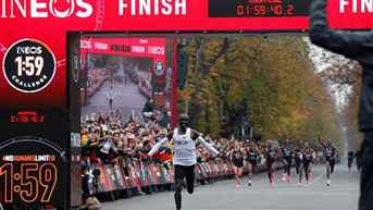 Eliud Kipchoge becomes first person to run marathon in under two hours