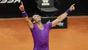 Rafael Nadal beat Novak Djokovic to win Italian Open title