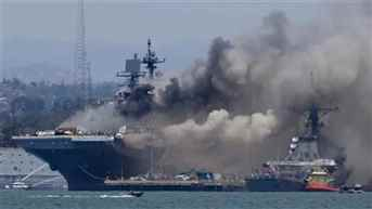21 injured in US Navy ship fire in San Diego