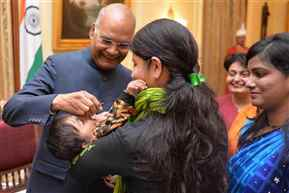 President Kovind launches Pulse Polio programme for 2019