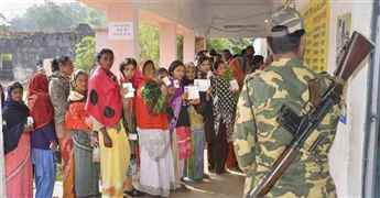 Polling underway for 17 seats in 3rd phase of Jharkhand Assembly elections