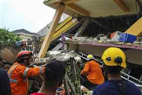 At least 42 killed as strong quake rocks Indonesia's Sulawesi island