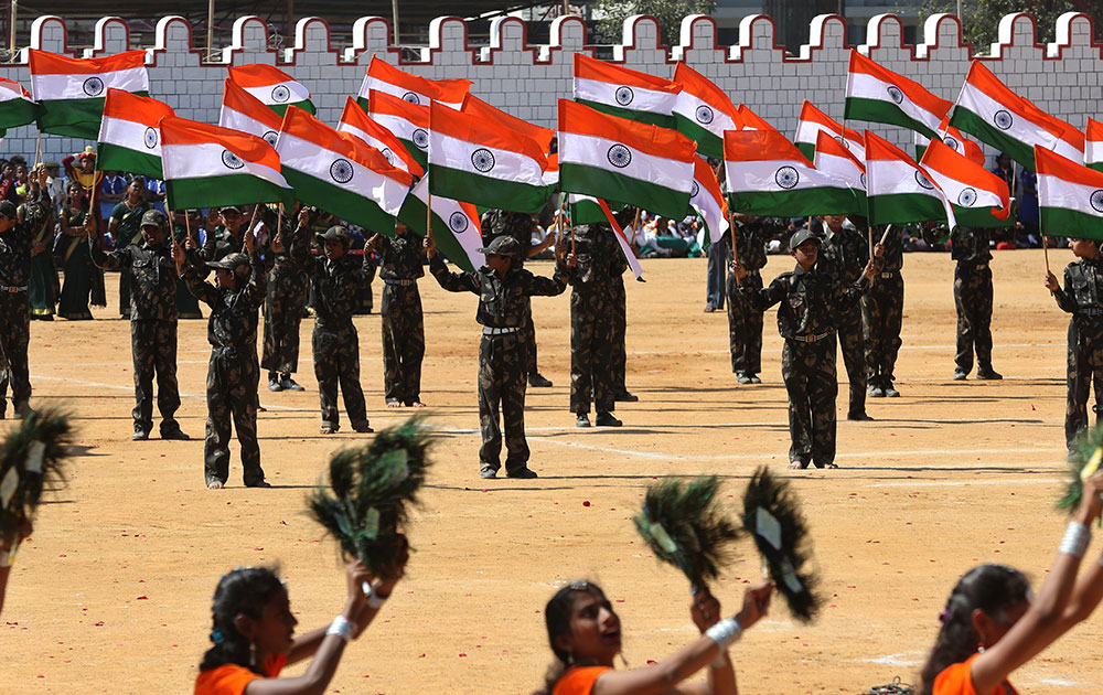 Full dress rehearsal for Republic Day Parade Celebrations being held today