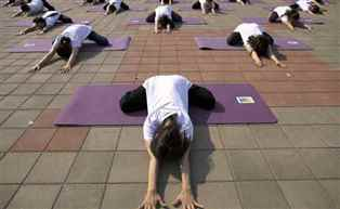 Preparations in full swing to celebrate International Yoga Day tomorrow