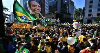 Thousands march in cities across Brazil to support President Jair Bolsonaro