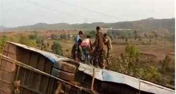 Five people killed and 40 injured in bus accident