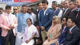 Bangladesh PM Sheikh Hasina arrives in Kolkata for pink ball Test