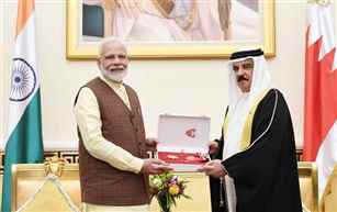"PM Modi holds talks with King of Bahrain; Conferred ""The King Hamad Order of the Renaissance award"""
