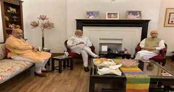 PM Modi, Amit Shah meet LK Advani and Murli Manohar Joshi