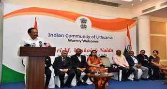 Vice President Venkaiah Naidu addresses Indian community in Lithuania