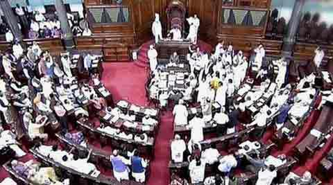 Rajya Sabha adjourned following protest over land dispute death in UP