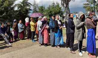 Re-polling at polling station under Tyui assembly constituency in Nagaland