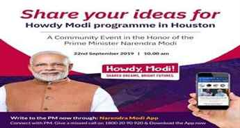 PM Modi seeks ideas from people for his speech Houston in US