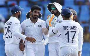 India win first test against West Indies by huge margin of 318 runs