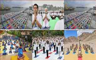 International Yoga Day celebrated across the country and abroad