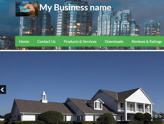 Real Estate with Slider Thumbnail Image